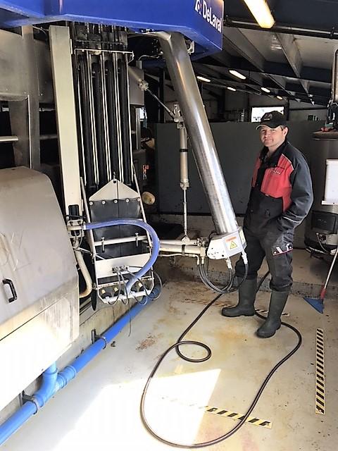Delaval robot med Impuls AIR fra Milkrite og 3B service As
